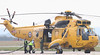 RAF Sea King ZH541 &quot;Rescue 125&quot; drops in for fuel