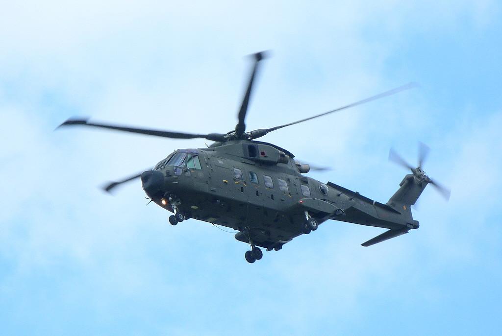 RAF Merlin HC3A, ZJ990.<br /> By Clive Featherstone.