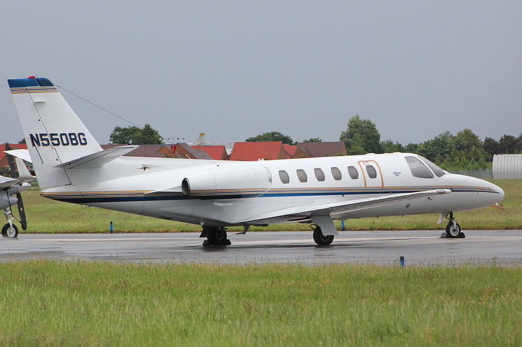 Cessna S550 Citation S/II, N550BG parked up on FOXTROT<br /> By Clive Featherstone.