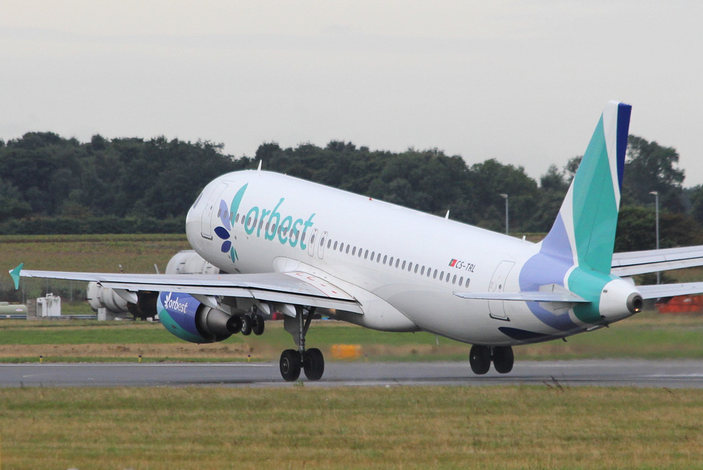 Orbest A320, CS-TRL.<br /> By Clive Featherstone.