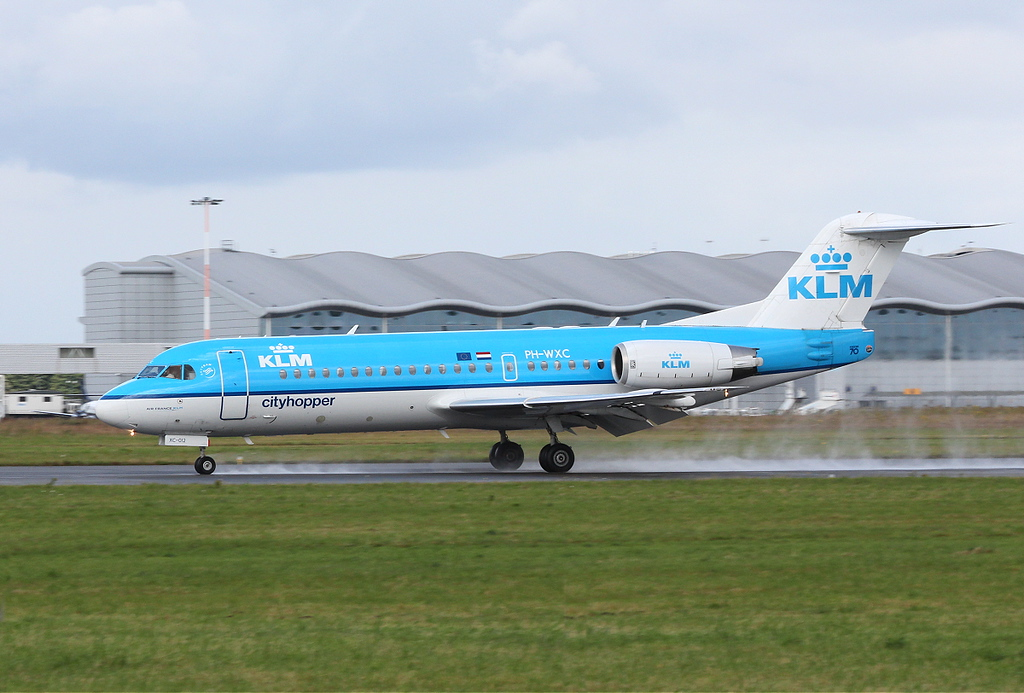 KLM Fokker 70, PH-WXC.<br /> By Clive Featherstone.