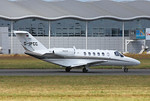 Arriving at 11:48 was Mach Airlines, Cessna 525A Citationjet CJ2+ D-IPCC. By Clive Featherstone.