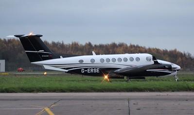 Flairjet Beech King Air 350i G-ERSE. By Jim Calow.