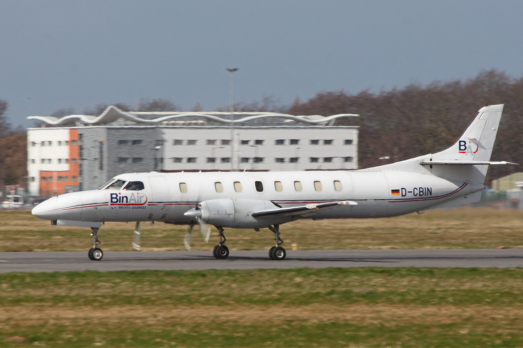 BinAir, Swearingen SA-227AT Merlin IVC, D-CBIN departed just after 12 noon.<br /> By Clive Featherstone.