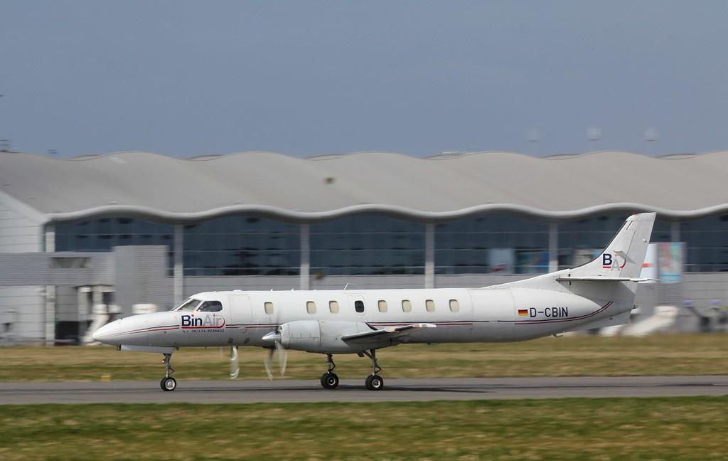 BinAir, Swearingen SA-227AT Merlin IVC, D-CBIN.<br /> By Jim Calow.