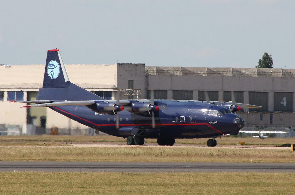 Ukraine Air Alliance An-12BP UR-CZZ departed within 90 mins<br /> By Clive Featherstone.