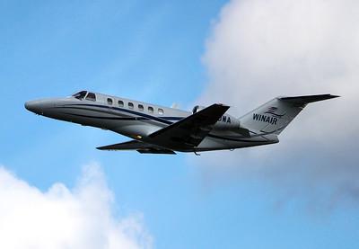 Winair Cessna 525A CitationJet CJ2, 9A-DWA By Graham Miller.