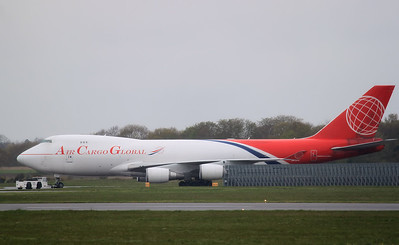 Air Cargo Global, 747-400F, OM-ACA being pushed into the ETB. By Graham Miller.