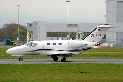 Globe Air Cessna 510 Citation Mustang, OE-FZC By Clive Featherstone.