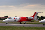 Flight Ambulance International Learjet 55, D-CAAE By Graham Miller.
