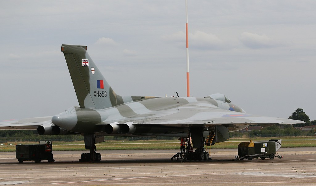 XH558 stands ready for todays mission<br /> By Correne Calow.